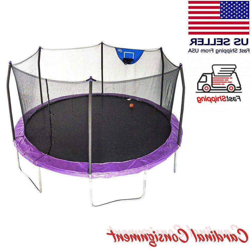 trampolines 15 round trampoline and enclosure navy