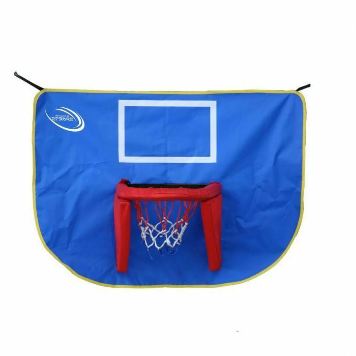 trampolines basketball hoop and ball