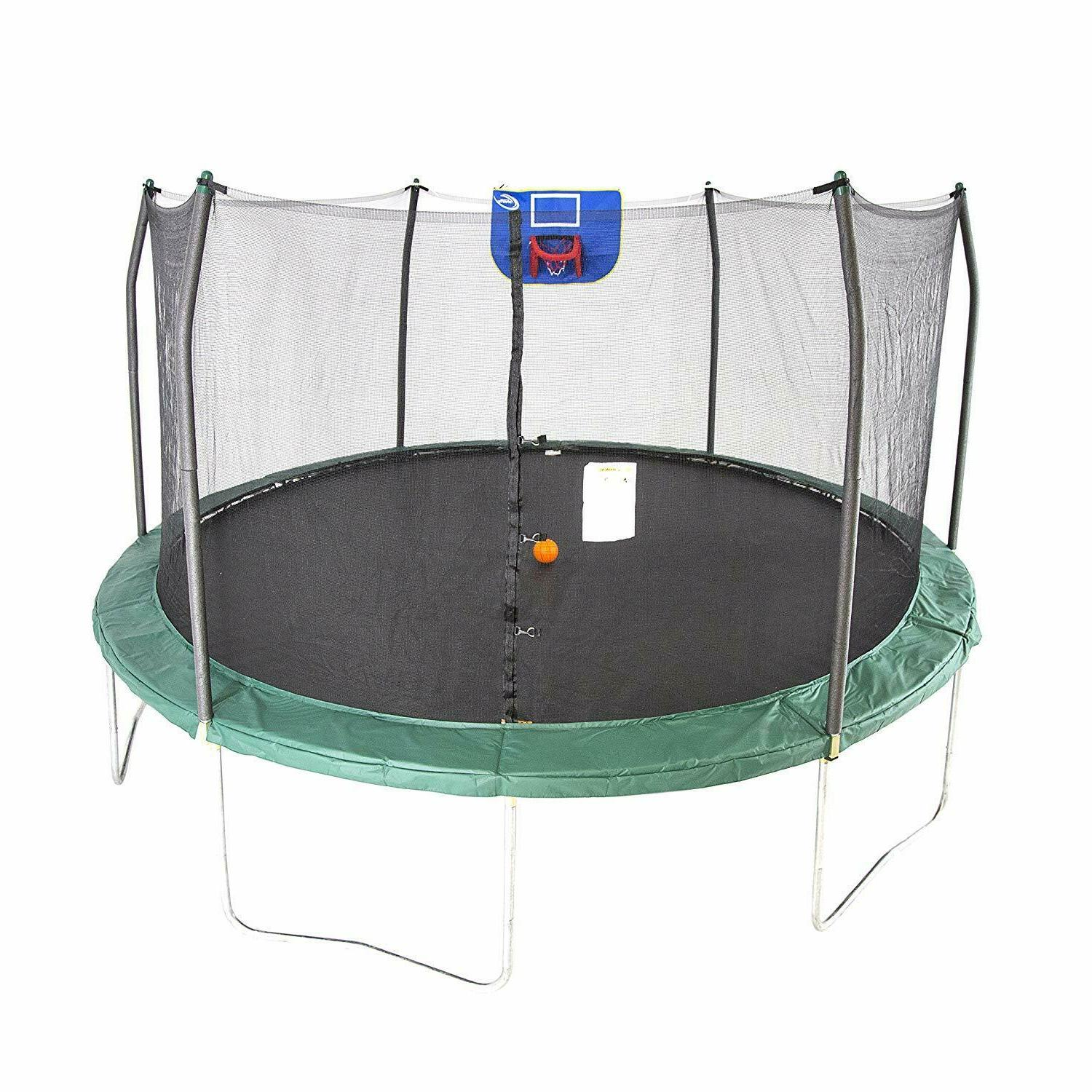 trampolines jump n dunk trampoline with safety