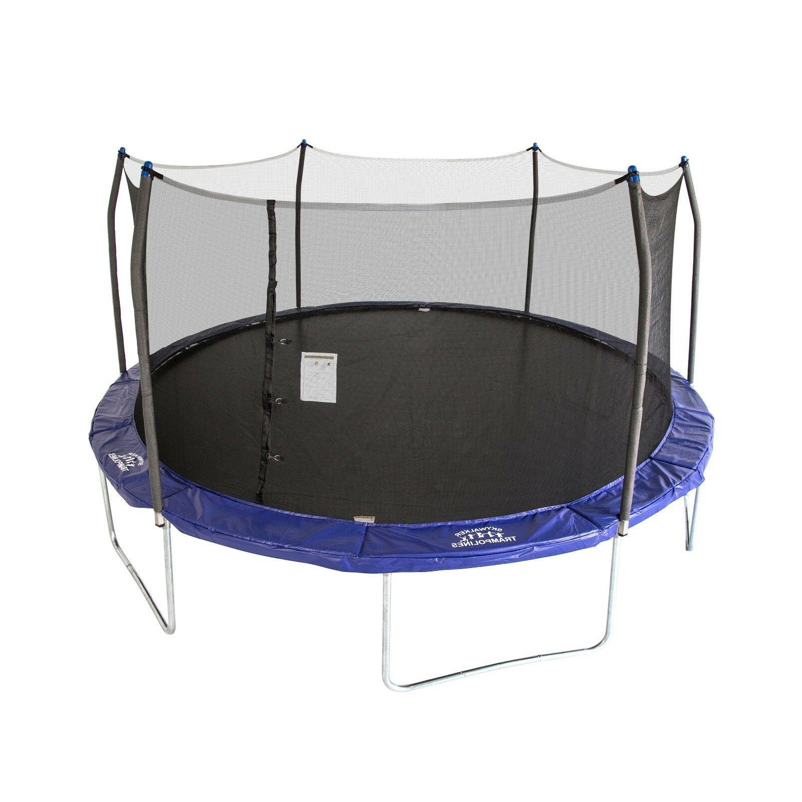 trampolines oval 16ft x 14ft with safety