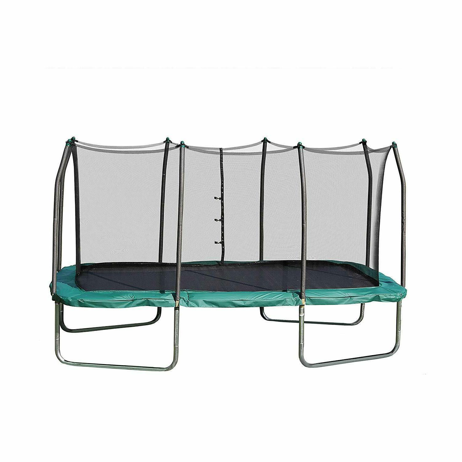 trampolines rectangle with enclosure net gymnast blue