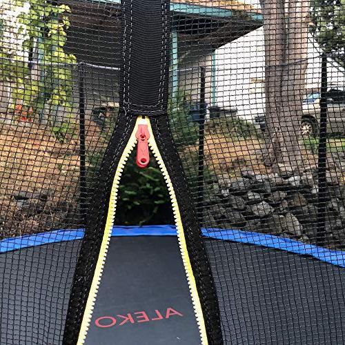 ALEKO 15 Foot Trampoline Safety Net and Ladder, Blue