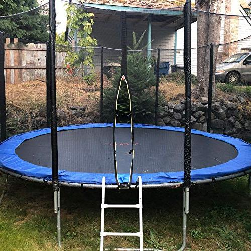 ALEKO TRP15 Trampoline and Ladder, Blue