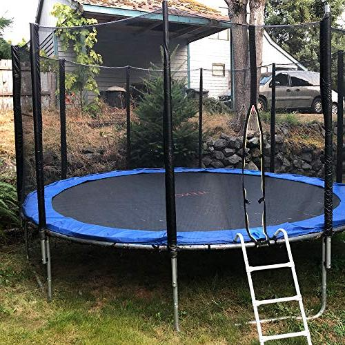 ALEKO TRP15 Trampoline with Net and Blue