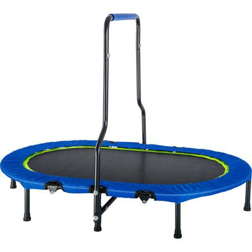 twin trampoline with handrail safety cover