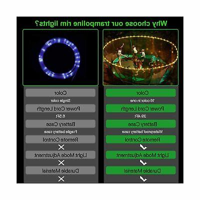 【Upgraded Volume Version】 LED Lights,Remote Trampoli...
