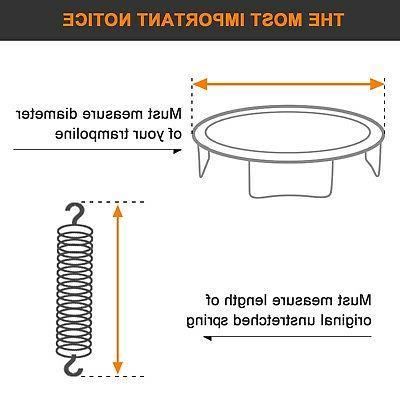 Exacme Weatherproof Mat 72 V-rings for 12' Frame Trampoline T12JM