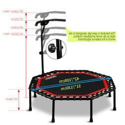 "Mini 51""Fitness Band Trampoline Adjustable Handle Bar Exerci"