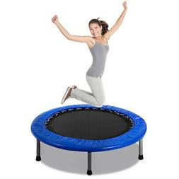 Mini Band Trampoline 38'' Safe Elastic Exercise Workout w/ P