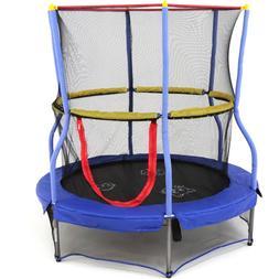 Mini Enclosure Trampoline Kids Bouncer Net Trampolines Round