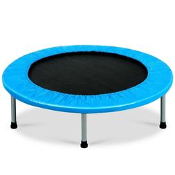 Mini Fitness Trampoline for Adults and Kids - Blue - Jump -