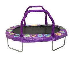 """JumpKing Mini Oval Trampoline with Purple Pad, 38"""" x 66"""""""