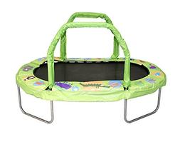 "JumpKing Mini Oval Trampoline with Green Pad, 38"" x 66"""