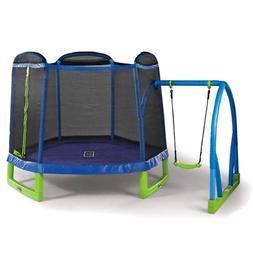 Bounce Pro My First Jump 7-Foot Trampoline and Swing, Blue/G