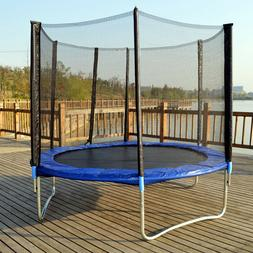 New 10 FT Trampoline Combo Bounce Jump Safety Enclosure Net
