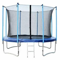 NEW 12 FT Round Trampoline with Enclosure, Net W/ Spring Pad