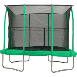 JumpKing 7 x 10-Foot Rectangular Outdoor Trampoline with Enc