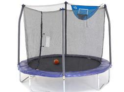 NEW Skywalker 8ft Trampoline Jump N' Dunk With Enclosure N