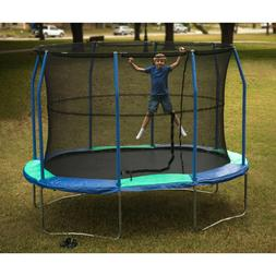 NEW JumpKing Oval 8 x 11.5 Foot Trampoline with Enclosure Bl