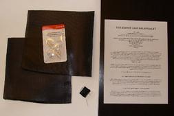 NEW! Trampoline Mat Home Repair Patch Kit 8x8 w/ NEEDLES