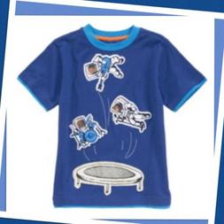 NWT 7 Gymboree STRIPES IN SPACE Astronaut SHIRT TOP trampoli
