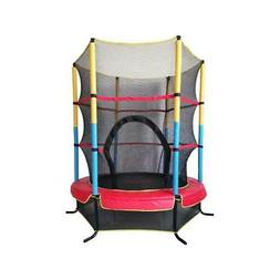 "55"" Mini Jumping Round Kids Trampoline with Safety Enclosure"