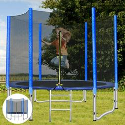 Outdoor Kids and Adults 8FT/10FT Round Trampoline with Safet