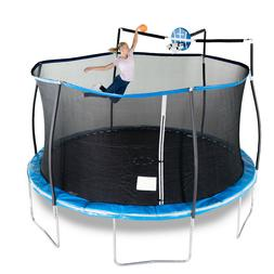 15' Bounce Pro Trampoline with Safety Enclosure Net & Slama