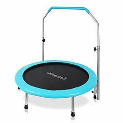 """SereneLife Portable & Foldable Trampoline - 40"""" Dia Sp"""