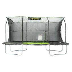 JumpKing Rectangular 10' x 15' Trampoline with Foot Step Saf