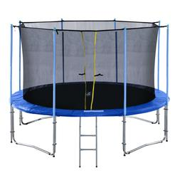 ExacMe 10-16FT Round Trampoline with Inner Enclosure 398 LBS