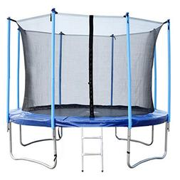 BestMassage 14FT Round Trampoline with Enclosure, Net W/ Spr