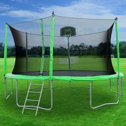 TECHSPORT 12 FT Trampoline with Safety Enclosure Net