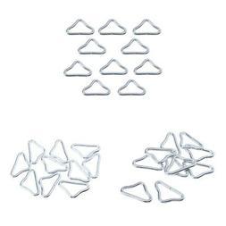 30 Pcs Stainless Steel Triangle Rings Buckle Loop Trampoline