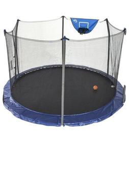 Skywalker 12-Foot Jump N' Dunk Trampoline with Enclosure N