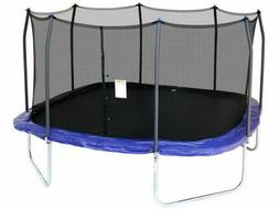 Skywalker 15 Feet Square Trampoline with Enclosure - Blue