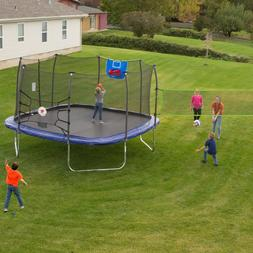 Skywalker Square Sports Arena 13-Foot Trampoline Blue with E