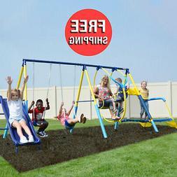 Swing Sets For Backyard Children Set Kit Kids Outdoor Mini T