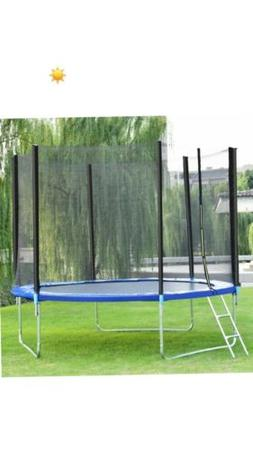 Trampoline 10 FT Combo Bounce Jump Safety Enclosure Net W/Sp