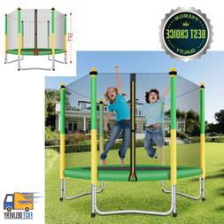 Trampoline 5 Feet Safety Enclosure For Kids Toddlers Indoor