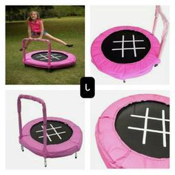 Trampoline Bouncer 4-Foot for Kids Pink Exercise Garden Back