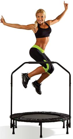 NEW Year Trampoline Cardio Trainer w/ Safety Handle Weight L