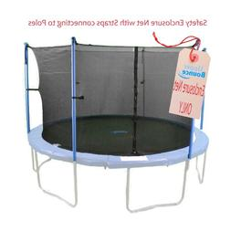 15 Ft. Framed Trampoline Enclosure Net Fit for Six Poles or