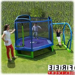 Trampoline Kid Swing Safety Enclosure 7' Child Bounce Net Ju