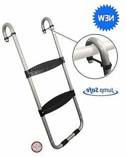Trampoline Ladder: 2-Steps with Safety Latch by Trampoline P