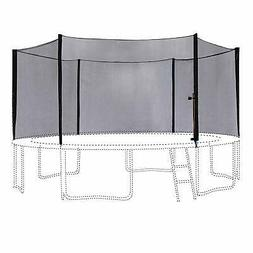 14FT Trampoline Outer Enclosure Safety Net with 6 Poles T-se