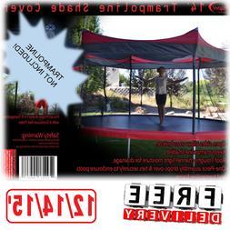 Trampoline Shade Cover 12/14/15' Canopy Outdoor Umbrella Awn