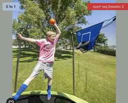 Trampoline Sports Basketball Game with Foam Basketball, Back