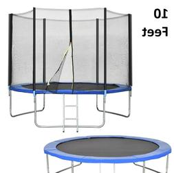 Trampoline With Enclosure 10ft Bounce Jump Safety Net With L