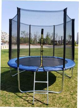 trampoline with safety enclosure net and ladder